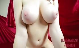 Big tits redhead POV fuck