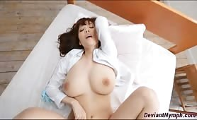 Busty Japanese sensual sex