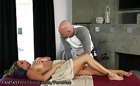 Busty MILF massage fuck