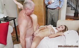Blonde fucked by old guy