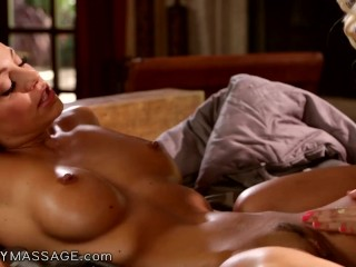 Abigail Mac Goes Hardcore During Massage With Bridesmaids